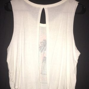 Charlotte Russe Tops - Open back Cropped Tank Medium